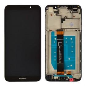 Дисплей Huawei Y5/Y5 Prime (DRA-L21/DRA-L22) (2018)/Honor 7A (DUA-L22) с тачскрином в сборе,  цвет черный, копия высокого качества, с рамкой