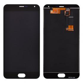 Дисплей Meizu M2 Note с тачскрином в сборе, без рамки, high copy, с черным шлейфом,  цвет black
