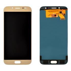Дисплей Samsung J730F, J730H, J730M/DS Galaxy J7 (2017) с тачскрином в сборе, prc tft с регулировкой,  цвет gold, без рамки