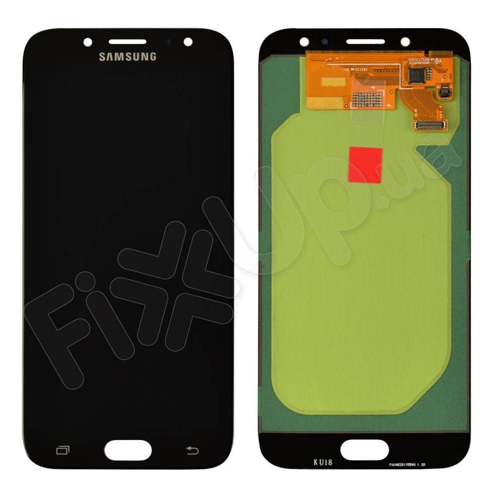 Дисплей для Samsung J730F, J730H, J730M/DS Galaxy J7 (2017) с тачскрином в сборе, цвет черный, Original Change Glass фото 1
