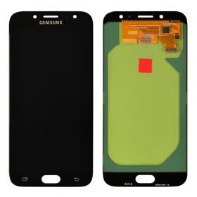 Дисплей Samsung J730F, J730H, J730M/DS Galaxy J7 (2017) с тачскрином в сборе, без рамки,  цвет черный, оригинал замененное стекло