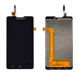 Дисплей Lenovo P780 с тачскрином в сборе,  цвет черный, без рамки