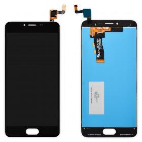 Дисплей Meizu M5, M5 mini с тачскрином в сборе,  цвет черный, без рамки, копия