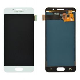 Дисплей Samsung Galaxy A3 A310F (2016) с тачскрином в сборе, без рамки,  цвет белый, tft с регулировкой яркости