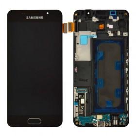 Дисплей Samsung Galaxy A3 A310F (2016) с тачскрином в сборе,  цвет черный, с рамкой, tft с регулировкой яркости