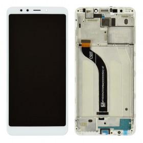 Дисплей для Xiaomi Redmi 5 с тачскрином в сборе, оригинал, с рамкой,  цвет белый