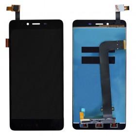 Дисплей Xiaomi Redmi Note 2 с тачскрином в сборе,  цвет черный, копия, без рамки