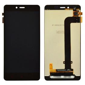 Дисплей Xiaomi Redmi Note 2 с тачскрином в сборе, оригинал, без рамки,  цвет черный