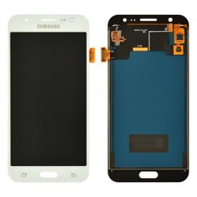 Дисплей Samsung Galaxy J5 J500F, J500M с тачскрином в сборе, без рамки, prc tft с регулировкой,  цвет white