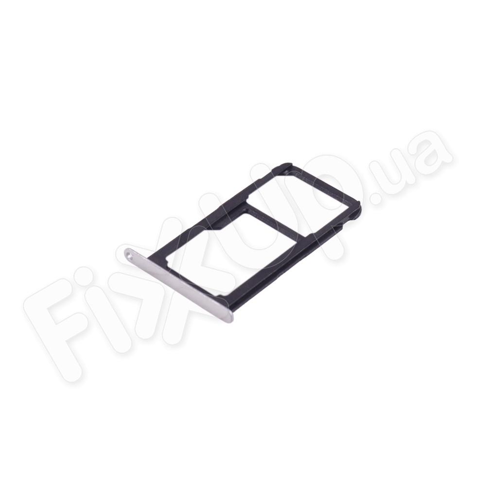 Держатель сим карты Huawei P10 Lite, цвет серебро фото 1