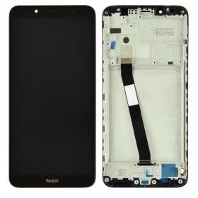 Дисплей для Xiaomi Redmi 7A с тачскрином в сборе, копия высокого качества,  цвет черный, с рамкой