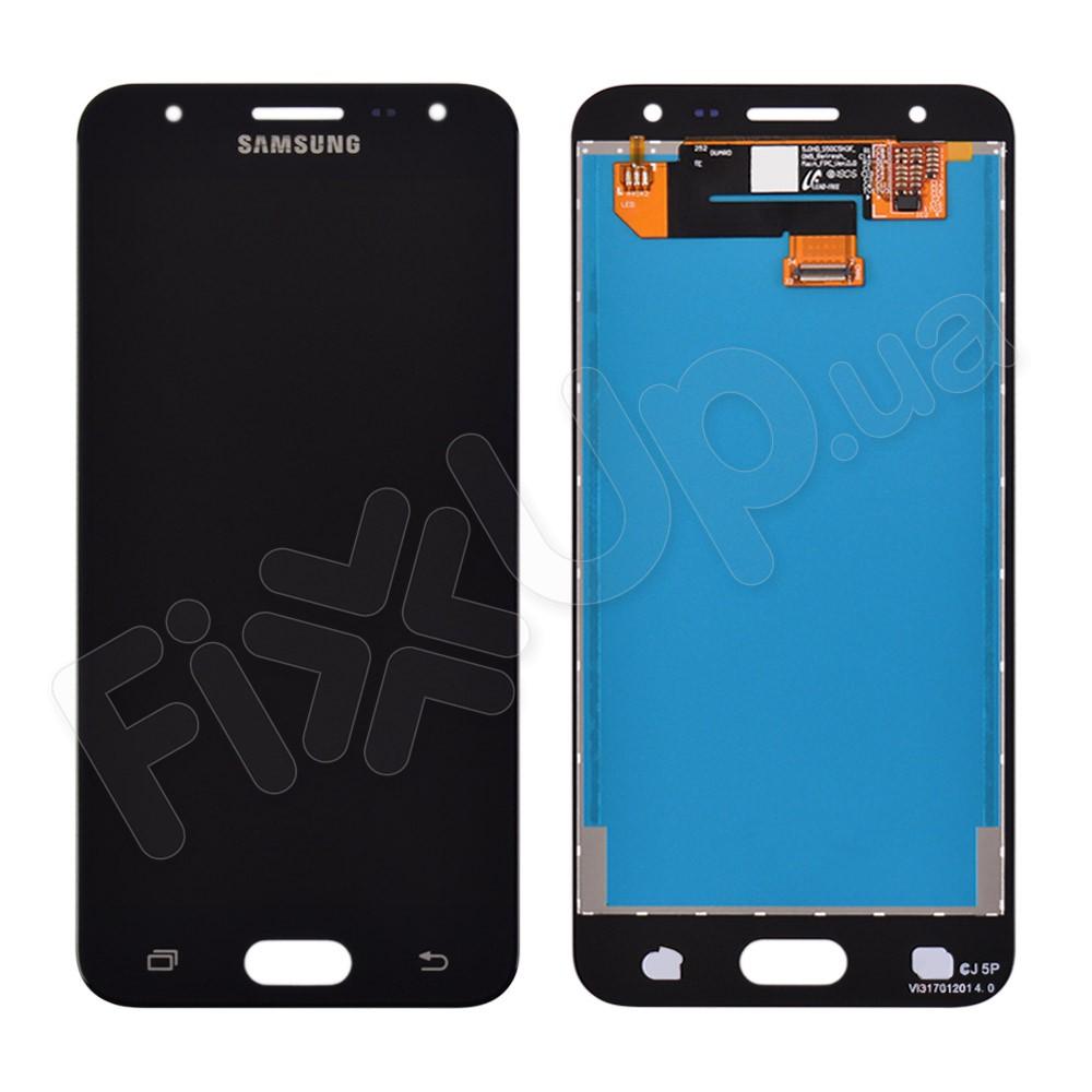 Дисплей для Samsung G570F/DS Galaxy J5 Prime (2016), с тачскрином в сборе, цвет черный, переклейка оригинал фото 1