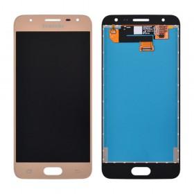 Дисплей Samsung G570F/DS J5 Prime с тачскрином в сборе (2016), original change glass,  цвет gold, без рамки