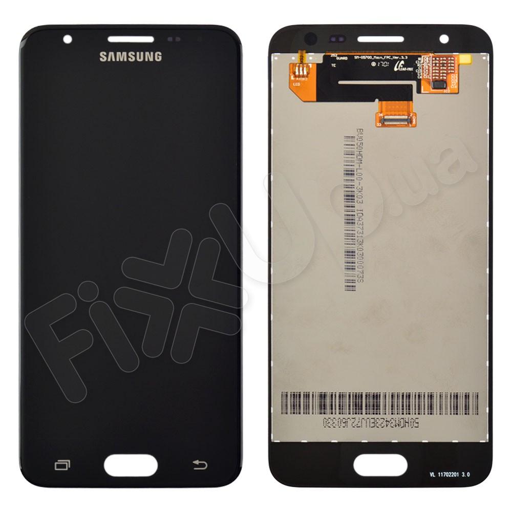 Дисплей Samsung G570F/DS J5 Prime с тачскрином в сборе, цвет черный (2016), сервисный оригинал фото 1