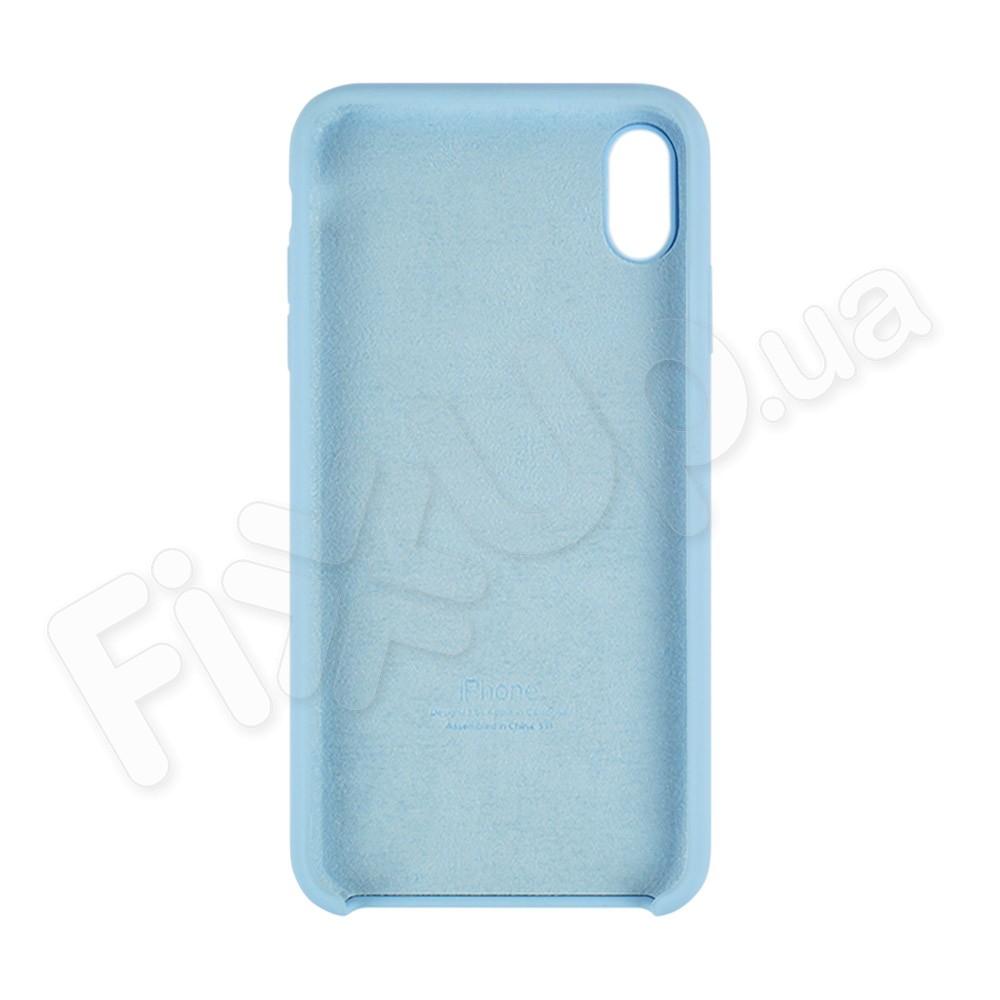 Силиконовый чехол для iPhone Xs Max (6.5), цвет голубой фото 1