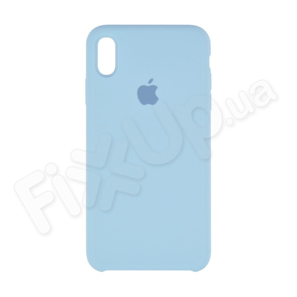 Силиконовый чехол для iPhone Xs Max (6.5), цвет голубой фото 2