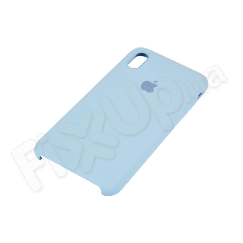 Силиконовый чехол для iPhone Xs Max (6.5), цвет голубой фото 3