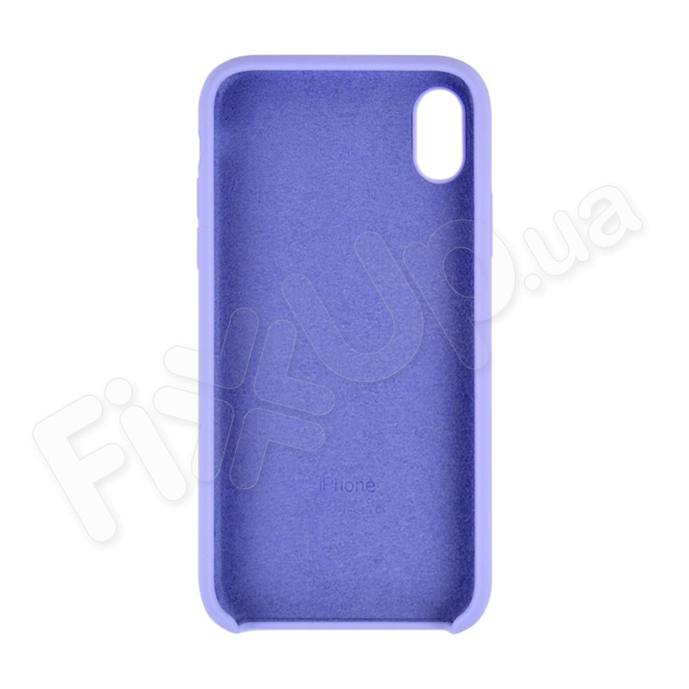 Силиконовый чехол для iPhone Xs Max (6.5), цвет lavender blue фото 1