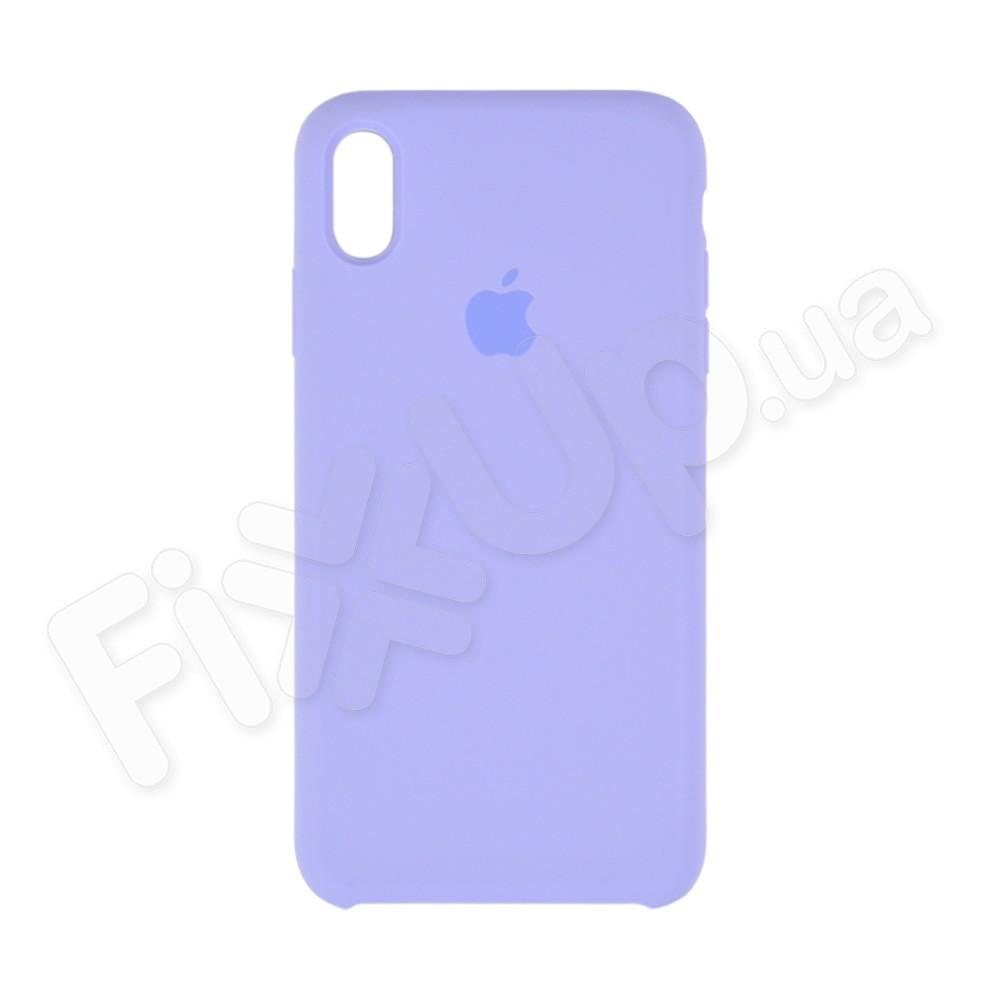 Силиконовый чехол для iPhone Xs Max (6.5), цвет lavender blue фото 2