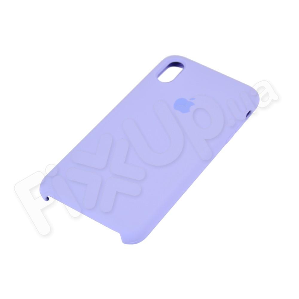 Силиконовый чехол для iPhone Xs Max (6.5), цвет lavender blue фото 3