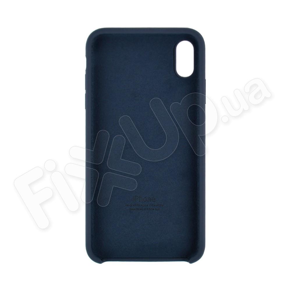 Силиконовый чехол для iPhone Xs Max (6.5), цвет midnight blue фото 1