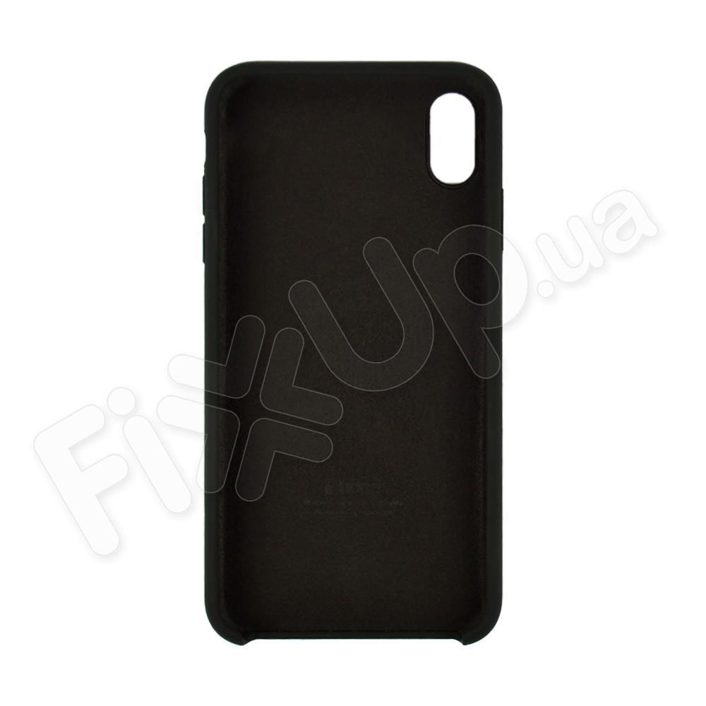 Силиконовый чехол для iPhone Xs Max (6.5), цвет черный фото 1