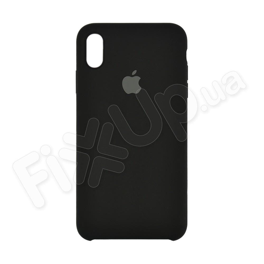 Силиконовый чехол для iPhone Xs Max (6.5), цвет черный фото 2