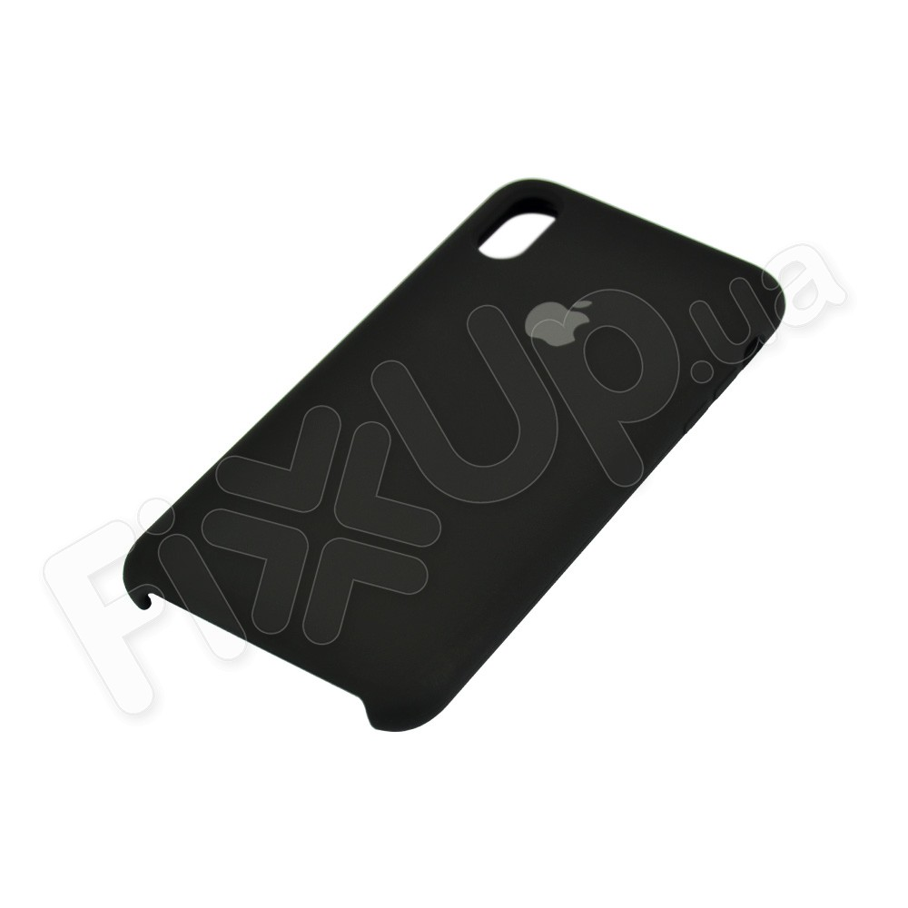 Силиконовый чехол для iPhone Xs Max (6.5), цвет черный фото 3