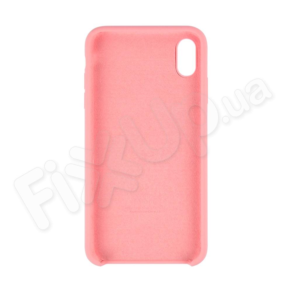Силиконовый чехол для iPhone Xs Max (6.5), цвет розовый фото 1