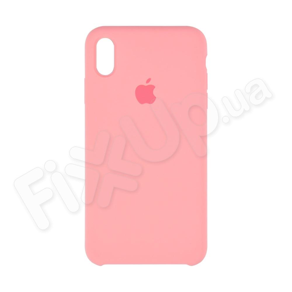 Силиконовый чехол для iPhone Xs Max (6.5), цвет розовый фото 2