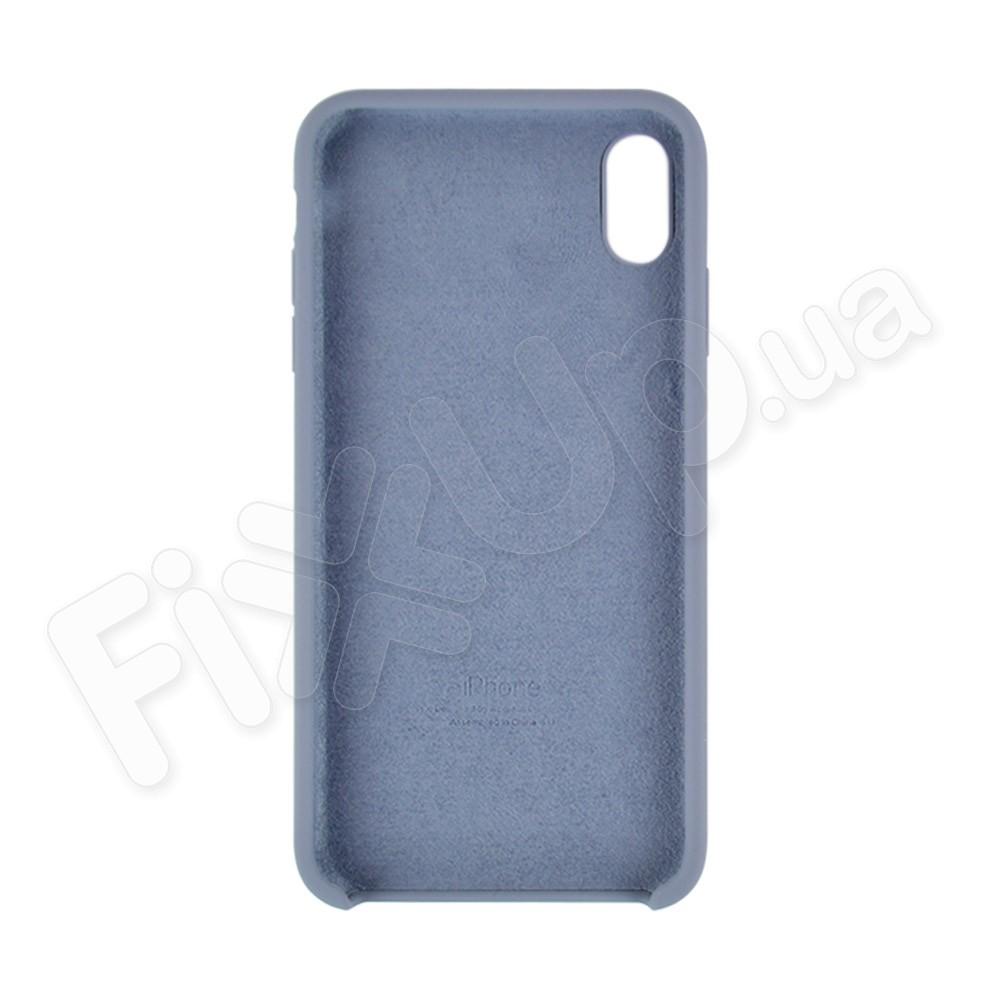 Силиконовый чехол для iPhone Xs Max (6.5), цвет grey blue фото 1