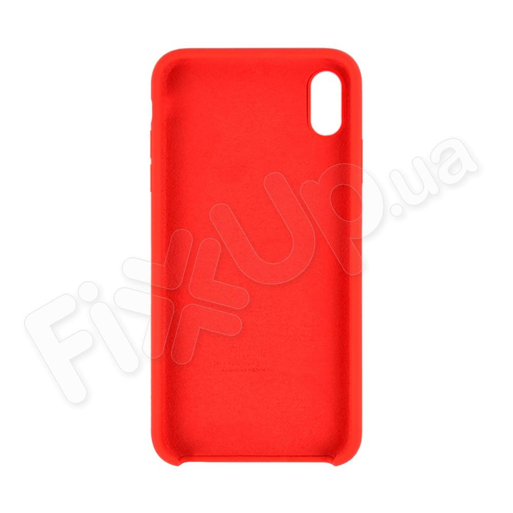 Силиконовый чехол для iPhone Xs Max (6.5), цвет красный фото 1
