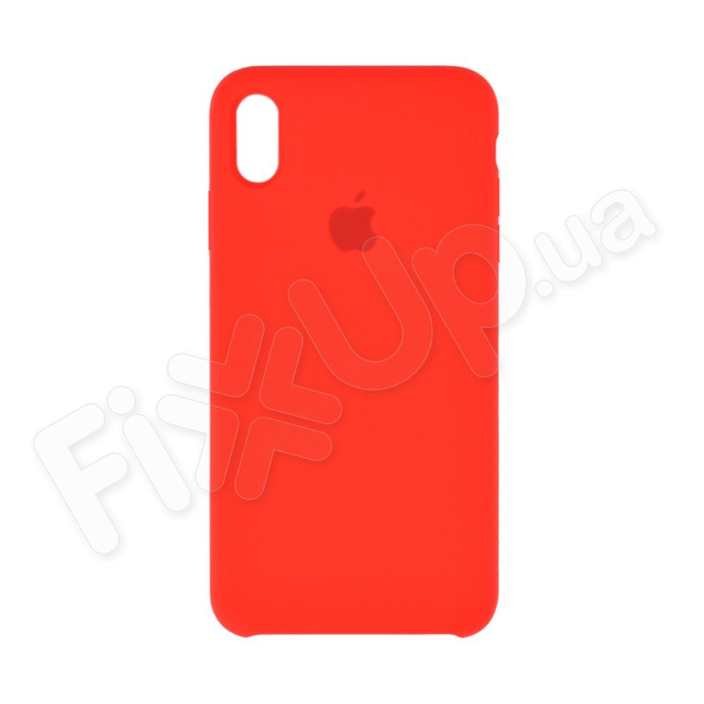 Силиконовый чехол для iPhone Xs Max (6.5), цвет красный фото 2