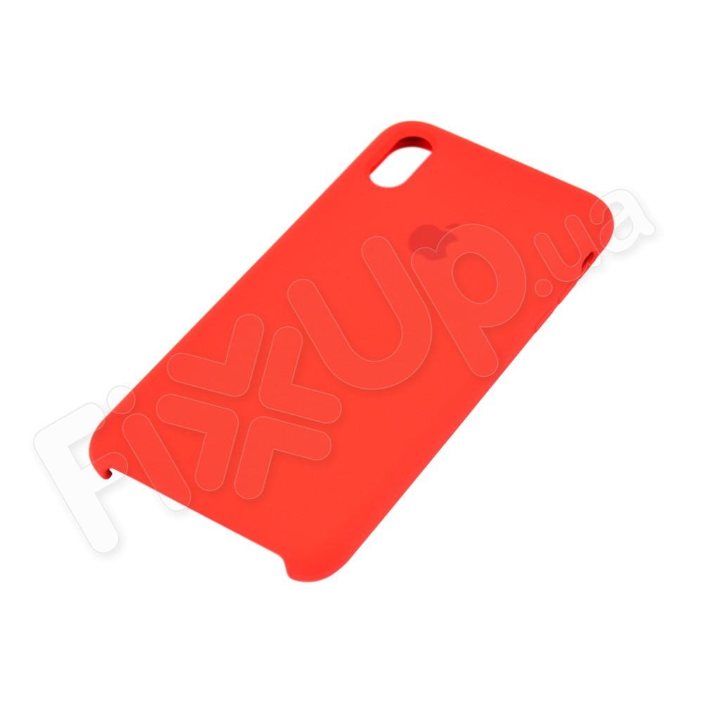 Силиконовый чехол для iPhone Xs Max (6.5), цвет красный фото 3