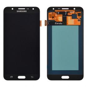 Дисплей Samsung J700H, J700F, J700M, DS Galaxy J7 (2015) с тачскрином в сборе, oled, без рамки,  цвет черный