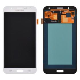 Дисплей Samsung J700H, J700F, J700M, DS Galaxy J7 (2015) с тачскрином в сборе, без рамки, prc oled,  цвет white