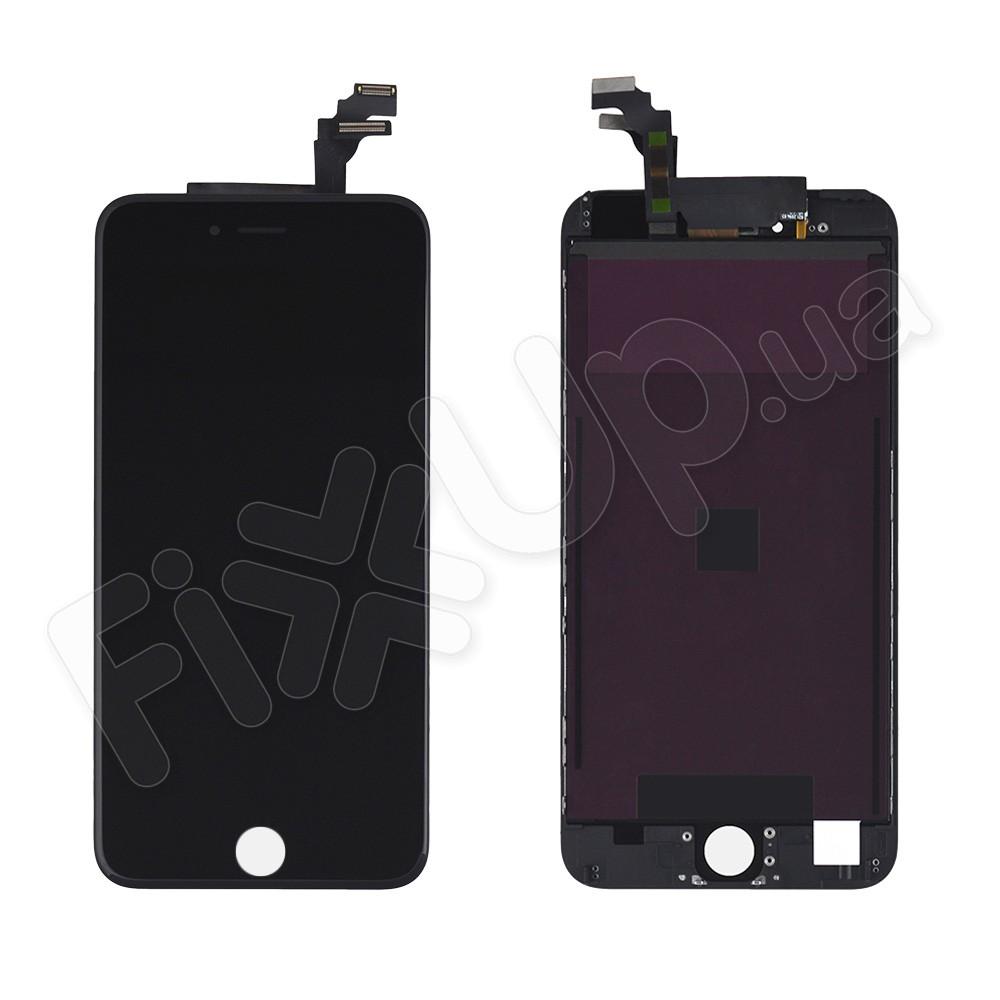 Дисплей iPhone 6 Plus с тачскрином в сборе, цвет черный, копия высокого качества фото 1