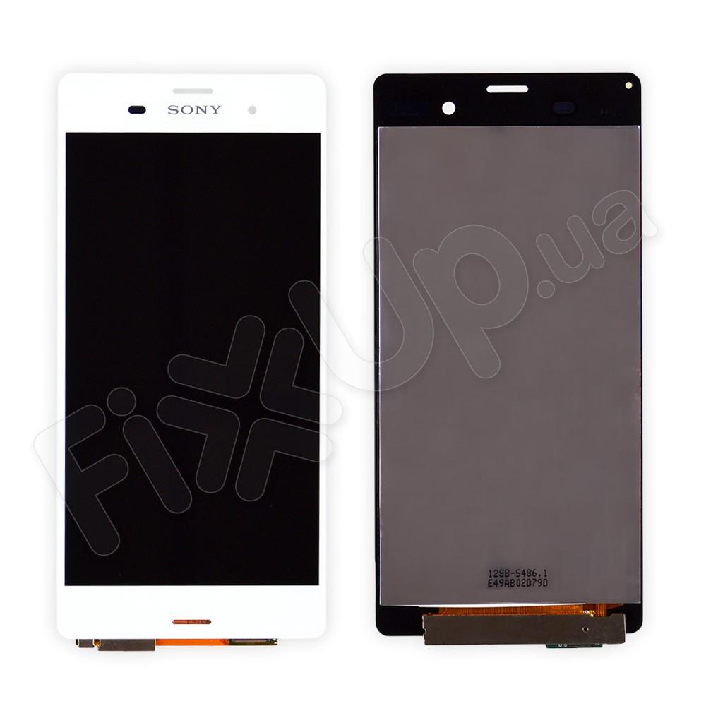 Дисплей Sony Xperia Z3 D6603 (D6643, D6653, D6633) с тачскрином в сборе, цвет белый, большая микросхема фото 1