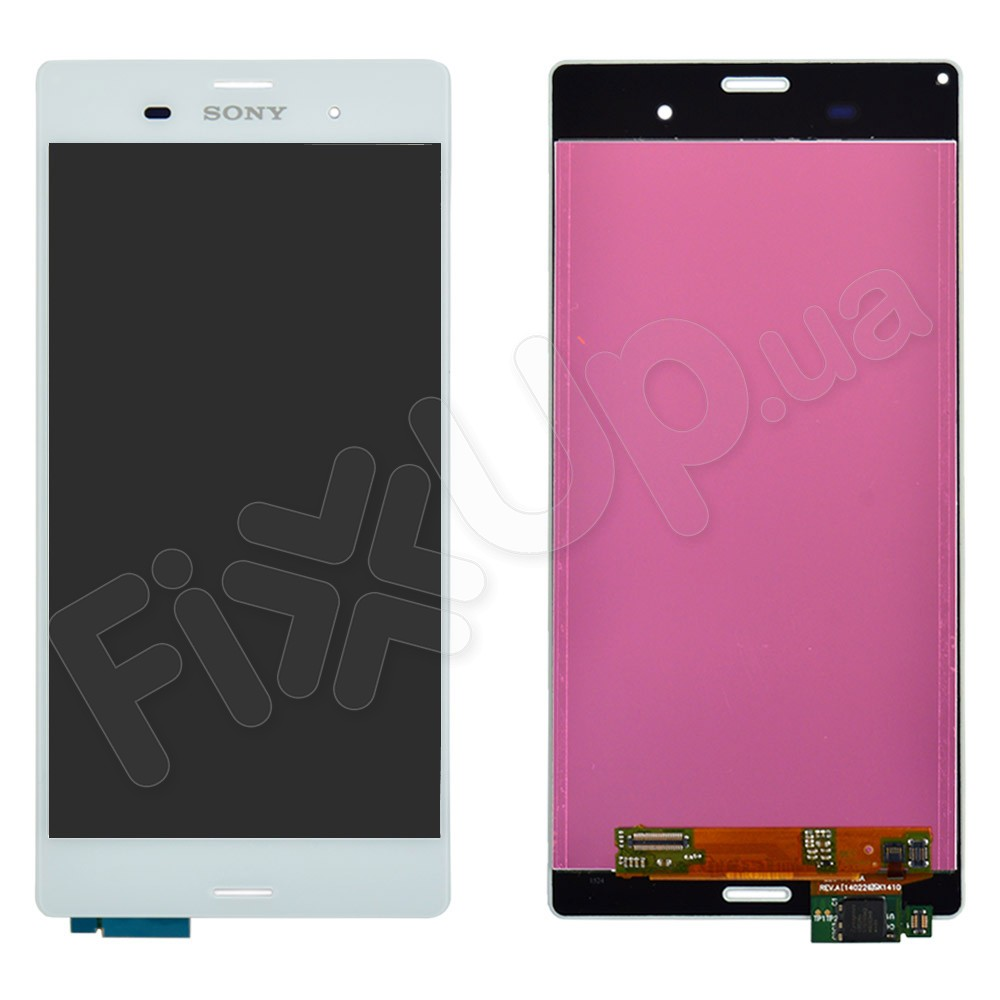 Дисплей Sony D6603, D6643, D6653, D6633 Xperia Z3 с тачскрином в сборе, цвет белый, оригинал фото 1