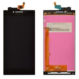 Дисплей Lenovo P70 с тачскрином в сборе, без рамки, оригинал,  цвет черный
