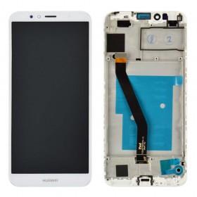 Дисплей для Huawei Honor 7A Pro/7C/Y6 2018 /Y6 Prime 2018 (AUM-L29/AUM-L41/ATU-L21/ATU-L31) с тачскрином в сборе,  цвет белый, копия высокого качества, с рамкой