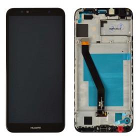 Дисплей для Huawei Honor 7A Pro/7C/Y6 2018 /Y6 Prime 2018 (AUM-L29/AUM-L41/ATU-L21/ATU-L31) с тачскрином в сборе,  цвет черный, с рамкой, копия высокого качества