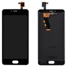 Дисплей Meizu M3s с тачскрином в сборе, без рамки, копия высокого качества,  цвет черный