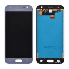 Дисплей Samsung J330 Galaxy J3 (2017) с тачскрином в сборе,  цвет серебро, оригинал замененное стекло, без рамки