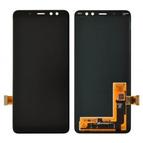 Дисплей Samsung A530F/DS Galaxy A8 (2018) с тачскрином в сборе,  цвет черный, оригинал замененное стекло, без рамки