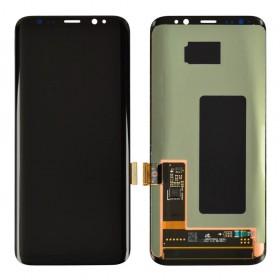 Дисплей Samsung G950F, G950FD/DS Galaxy S8 (2017) с тачскрином в сборе, оригинал замененное стекло,  цвет черный, без рамки