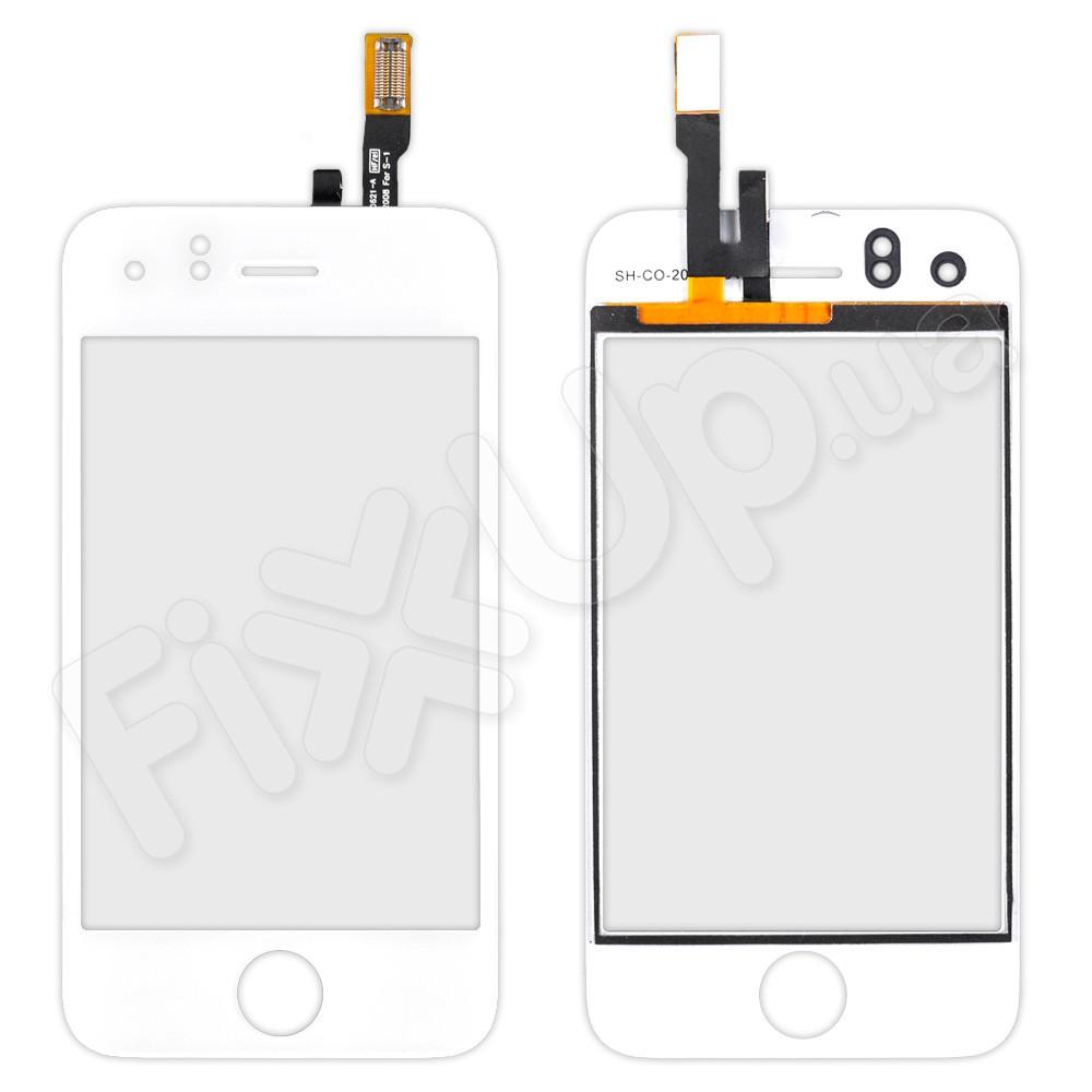 Тачскрин (сенсор) со стеклом для iPhone 3GS, цвет белый, уценка фото 1