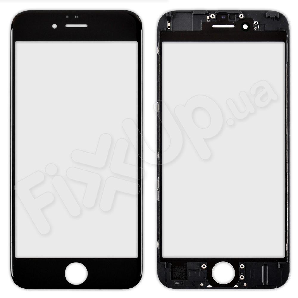 Стекло iPhone 6S, цвет черный, с рамкой фото 1