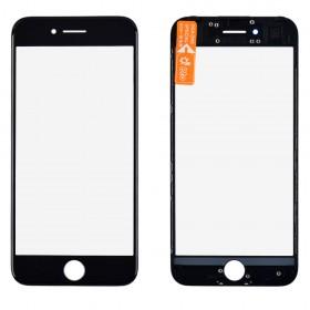 Стекло корпуса с рамкой и OCA для iPhone 7,  цвет black