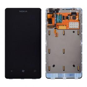 Дисплей Nokia 800 Lumia с тачскрином в сборе, с рамкой,  цвет black